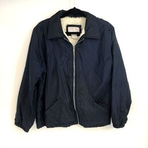 Blair Navy Blue Lined Wind Breaker Jacket